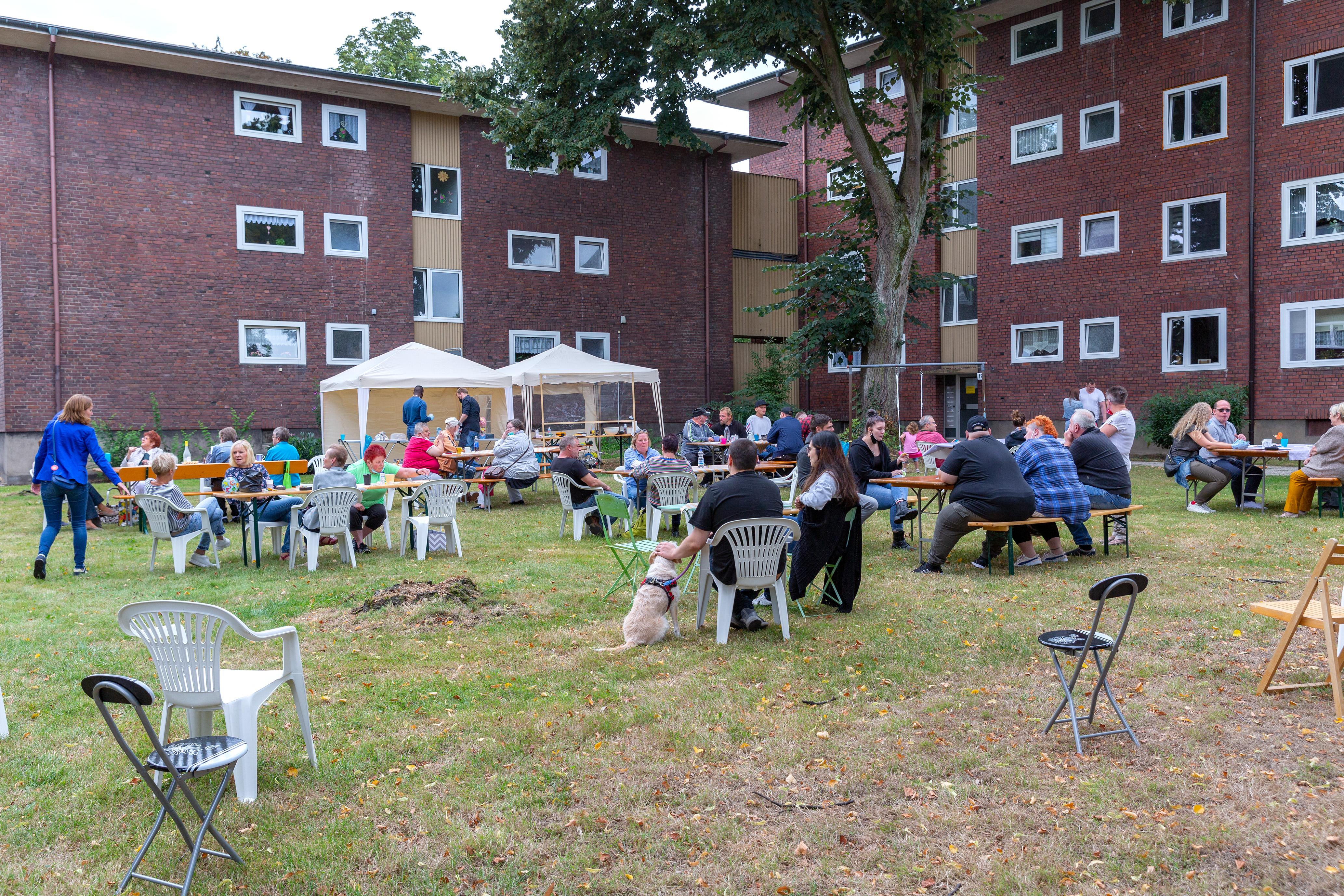 Fröhliches Siedlerfest am Hesterkampsweg