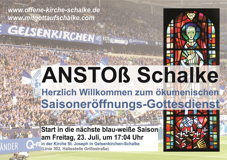 Mit Gottes Segen für Schalke